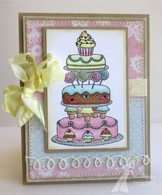 A Paper Melody - cake image from Taylored Expressions.  Gorgeous card!