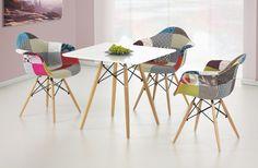 Prometheus-čtverec (bílá / buk) Outdoor Furniture Sets, Outdoor Decor, Eames, Chair, Modern, Design, Home Decor, Decorations, Products