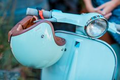 Explore our #helmade ONE Fifty Fifty, designed by #Lindarella and see how great it fits her #Oktoberfest outfit for this year as well as her #oldschool #retro #vespa. Simply #stylish! Design your own Scooter helmet on www.helmade.com