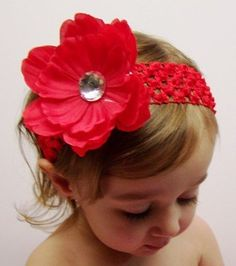 DIY Flower Headbands for Your Baby! Glue flowers to clips then can interchange flowers and bands