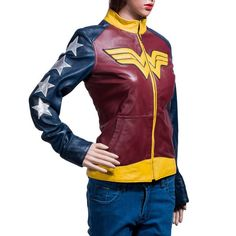 wonder-woman-themed-leather-jacket from http://geektyrant.com/news/wonder-woman-themed-leather-jacket
