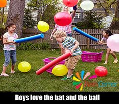 boys love the bat and the ball