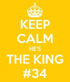 Keep Calm, he's the KING #34. Seattle Mariners. Felix Hernandez.