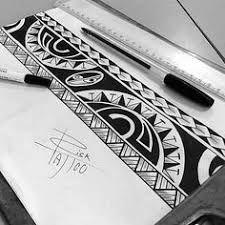 Resultado de imagem para plantillas brazaletes maories #maoritattoosbracelet