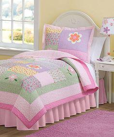Look what I found on #zulily! Pastel Patchwork Floral Quilt Set #zulilyfinds
