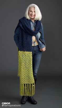 Crochet Super Scarf: Granny Style Scarf