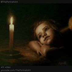 Drawing Child under candle light. Sepia pencil on black paper. for art video see link in bio (youtube.com/ThePortraitArt) - originally drawn this piece for a charity project for the make-a-wish foundation. #art #realism #child #candle #candlelight #girl #wish #realistic #timelapse #speeddrawing #theportraitart www.theportraitart.com