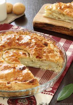 Torta salata di patate crude e panna alla francese della Prova del Cuoco ricetta Dulcisss in forno by Leyla