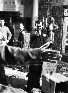 Stanley Kubrick on the English set of Lolita (1962).