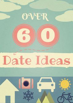 Over 60 date ideas for married or dating couples. Most are free, some stay-at-home, others are cheap or out on the town. The list keeps getting added to! #dateidea #marriage #fun