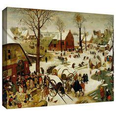 ArtWall Pieter Bruegel 'The Census at Bethlehem' Gallery-Wrapped