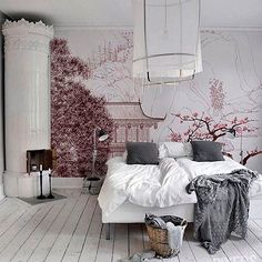 Sweet Dreams People Linda! ❤️ #decoração #homedecor #decor #bedroomdecor #wallpaper #papeldeparede #cooldecor #cozydecor #cosi_home