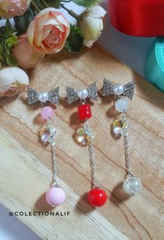 Bead Crafts, Diy And Crafts, Vehicle Accessories, Jewelries, Jewelery, Balloons, Dangles, Brooch, Pearls