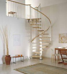 railing...pin arke spiral staircase white walls
