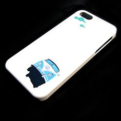 VW Microbus illustration mobile phone case. it's flying i don't know if that's even possible, but anyway...