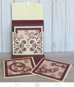 "Hi friends, it's Sandy Diller here to share a simple idea for a little gift box containing handmade greeting cards.  This is a nice way to say ""Thanks"" to a hostess or just give to someone special.     Let's get started – first the gift box. Finished size of box is 6″ h X 6″ w X 3/4″ d. 8.5″ X 11″ paper was used here – cut 2 pieces of cardstock that are 6″ X 11″. Trim off one piece at 6.75″.  Placing long side at top of score board, score one end at .75″,  shown in figure 1 below. For th..."