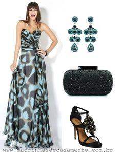 Madrinhas de casamento: Copie o look: vestido de festa longo estampado