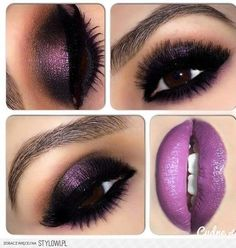 Great combination of violet and black