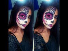 Easy Sugar Skull Halloween Tutorial - YouTube