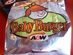 A & W Baby Burger.The Baby Burger was made with one beef patty, ketchup, mustard, and pickles, served on a plain bun. Ed Vedder, Vintage Restaurant, Retro Recipes, My Youth, Good Ole, Ol Days, My Childhood Memories, Teenage Years, A&w Root Beer