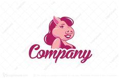 Logo for sale: Charming Pig Logo