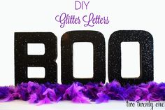 two twenty one: DIY Glitter Letters {Mod Podge} #diy #halloween