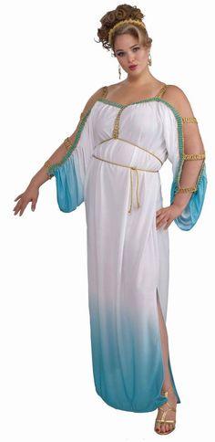 37ebdd6e78 Grecian Goddess Costume Women s Cleopatra Blue Xl-xxl Roman Toga Party  Accessory  fashion