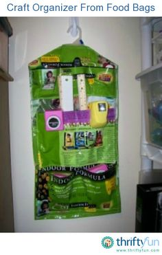 This is a guide about craft organizer from food bags. You can make organizers for storing a wide variety of craft supplies from empty food bags.