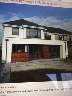 ie Semi detached double height rear extension. Semi Detached, Detached House, Rear Extension, Extension Ideas, Duplex House Design, Park Homes, Home Renovation, Home Kitchens, Extensions