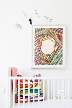 Clean, modern Nursery designed by The Chad James Group, and photographed by Alyssa Rosenheck, via @sarahsarna.