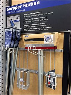 This Scraper Station goes after its market with single-minded determination. Unique are the connected Bar-Mount Double-Arm Utility Hooks and integrated… Bar, Hooks, Literature, Stationery, Storage, Parking Lot, Steel, Literatura, Purse Storage