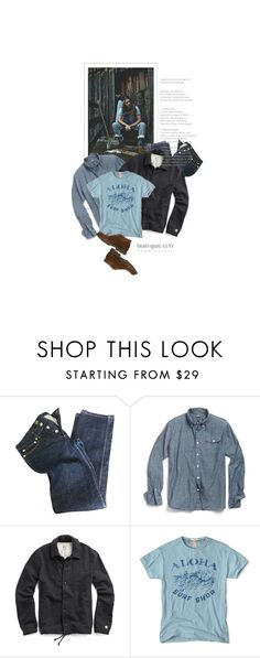 """""""Lui Loin De La Ville / Him Away From The City"""" by halfmoonrun ❤ liked on Polyvore featuring A.P.C. and Eleventy"""