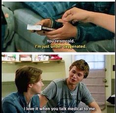 So funny and cute when he said that to her