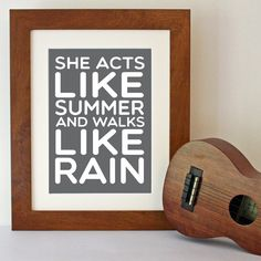 Train 'Drops Of Jupiter' Song Lyric Art Print by Hopeandlovedesign Song Lyrics Art, Lyric Art, Song Quotes, Music Quotes, Music Songs, Words Quotes, Funny Quotes, Sayings, Frases