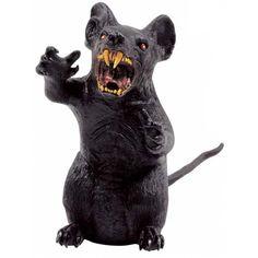 Giant Rubber Rat Halloween Prop