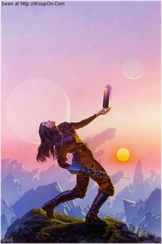 Michael Whelan - Crystal Singer. He did the cover art for this book. Great book