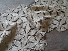 Antique Crochet Lace Doilies Star Pattern Vintage by 5gardenias