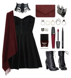 """""""daily outfit: a modern day witch #2"""" by your-fair-lady ❤ liked on Polyvore featuring Aéropostale, Butter London, Topshop, Dorothy Perkins, Lancôme, NOVICA, Iosselliani, Bobbi Brown Cosmetics and modern"""