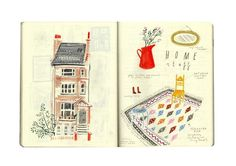 SKETCHBOOK by Nina Cosford, via Behance