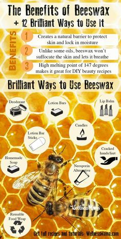 Natural Beauty Remedies 12 Reasons to have Beeswax in Your Home (and ways to use them!) - Beeswax is an amazing substance that belongs in every home. Use it in lotions, salves, deodorant, homemade neosporin, baby care and so much more! Beauty Care, Diy Beauty, Beauty Hacks, Beauty Ideas, Beauty Skin, Beauty Secrets, Homemade Beauty, Beauty Guide, Face Beauty