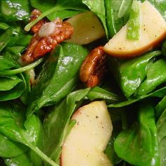 Feel like you're craving something fresh? Make this simple spinach, apple and pecan salad. It's great for lunch or a quick dinner.