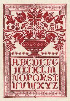 cross-stitch alphabet: