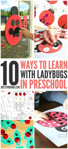 Fun & Creative Ways to Learn with Ladybugs in Preschool Insect Activities, Kids Learning Activities, Spring Activities, Fun Learning, Preschool Activities, Montessori, Insect Crafts, Business For Kids, Preschool Crafts