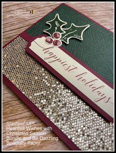 Painted Christmas Cards, Homemade Christmas Cards, Stampin Up Christmas, Christmas Cards To Make, Xmas Cards, Holiday Cards, Beautiful Christmas Cards, Handmade Christmas, Christmas Ideas