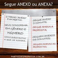 Português na tela: #dicasdasemana: UsO Do TeRmo 'AnExO'