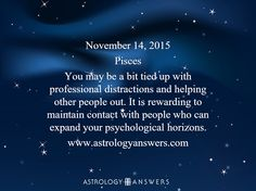 The Astrology Answers Daily Horoscope for Saturday, November 14, 2015 #astrology