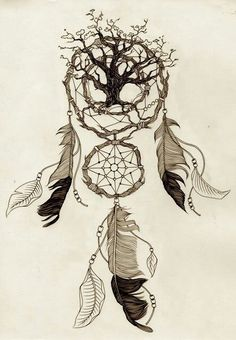 Tree of life AND dream catcher? Yes please.