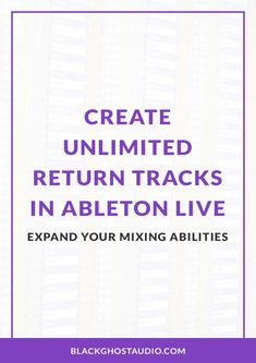 Learn how to create additional return tracks in Ableton Live by adding Chains to Audio Effect Racks. Audio Engineer, Ableton Live, Recording Studio, Chains, Music Production, Track, Writing, Learning