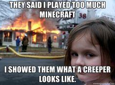 Scary minecraft kid