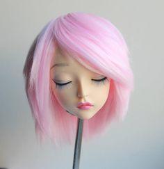 Feeple60 fairyland sd wig soft pink bubblegum cotton candy